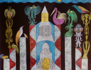 Architecture-with-figures-48.5x62.5cm