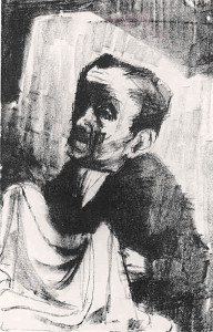 Eva Frankfurther Cloth Maker, lithograph,22.5 x 33.5 cm, 26.5 x 36.5 cm LR