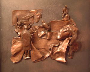 Ghisha-Koenig-Tentmakers-I-1979-bronze-relief